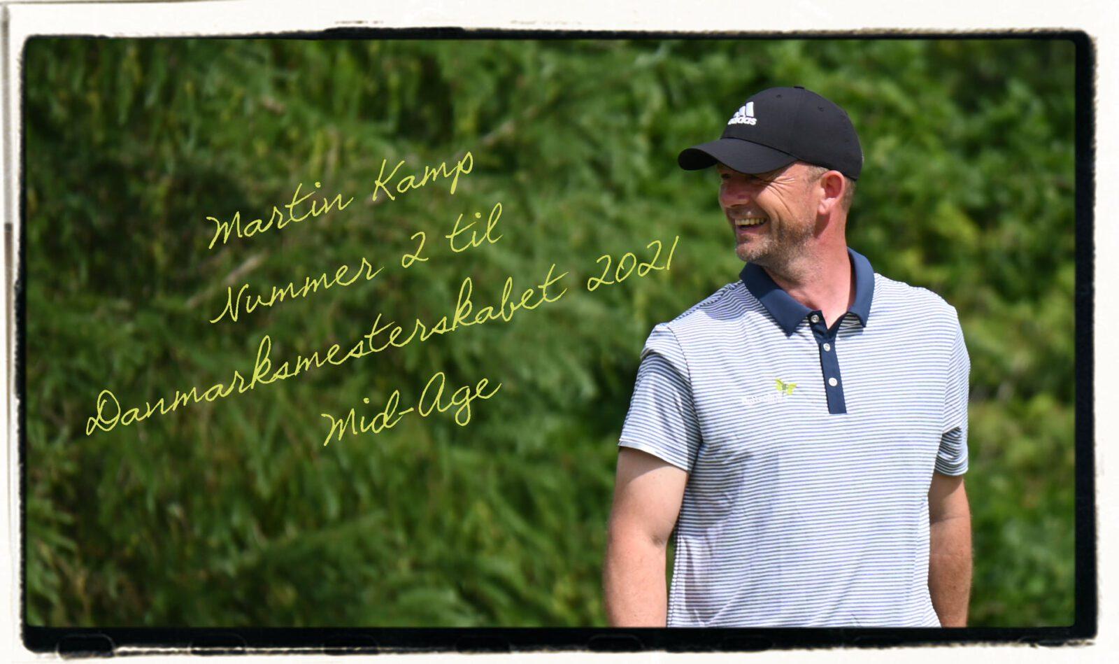 Martin Kamp bliver nummer 2 til DM i Mid-Age Golf
