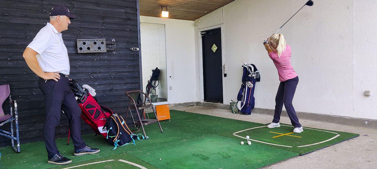 golftræning enkelt lektion
